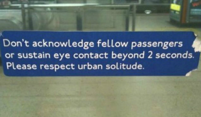 londoners-don't-talk-to