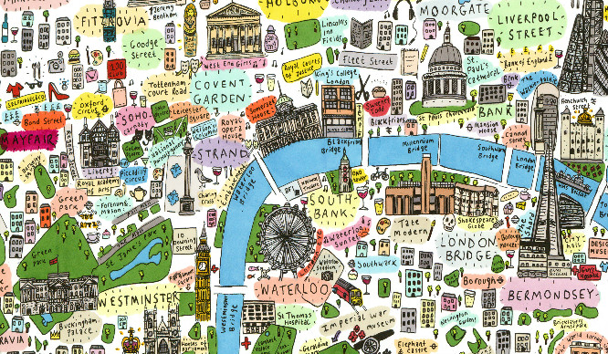 Map To London.This Illustrated Map Of London Is The Cutest Thing We Ve