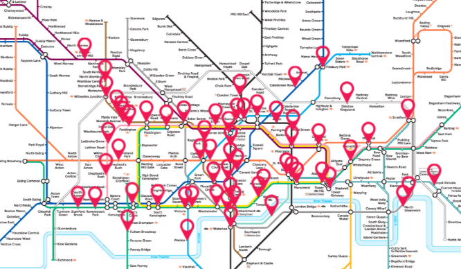 Interactive Tube Map Listen To The Sound Of The Underground With This Interactive Tube