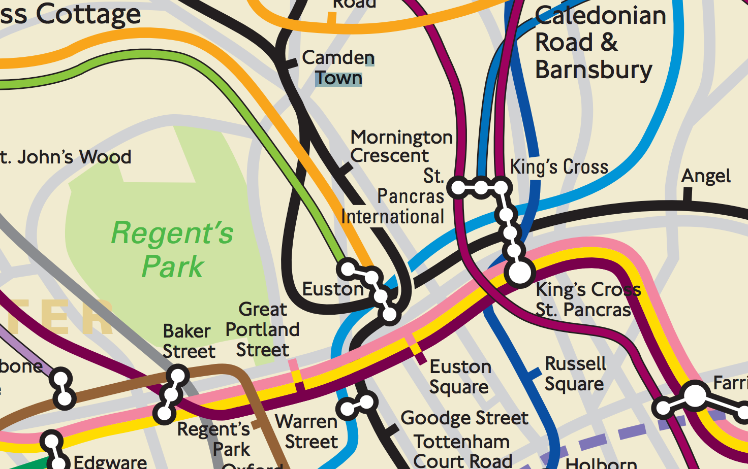 London Subway Map Russell Station.7 Places Where The London Underground Map Completely Lies To Us