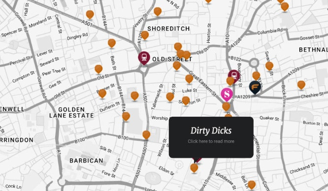 Best London Map.This Map Will Tell You Where All The Best Pubs Are In Shoreditch