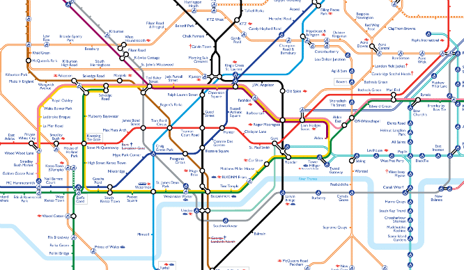 Map London Metro.The London Underground Map Has Been Given A Very Dapper