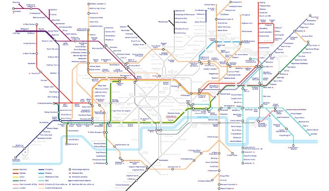 Map Around London.This Tfl Map Will Help You Get Around London During The Tube Strike