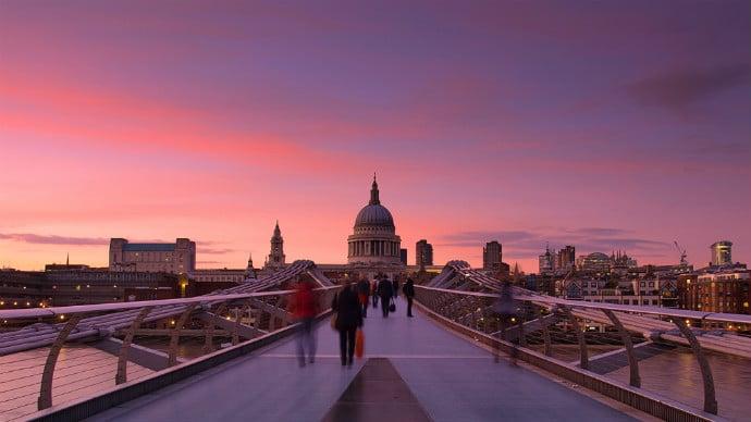 pink sunset st pauls