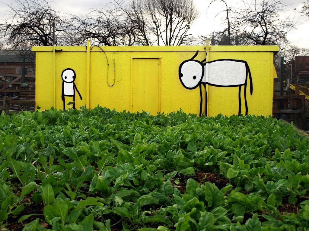 Stik Shoreditch City Farm London