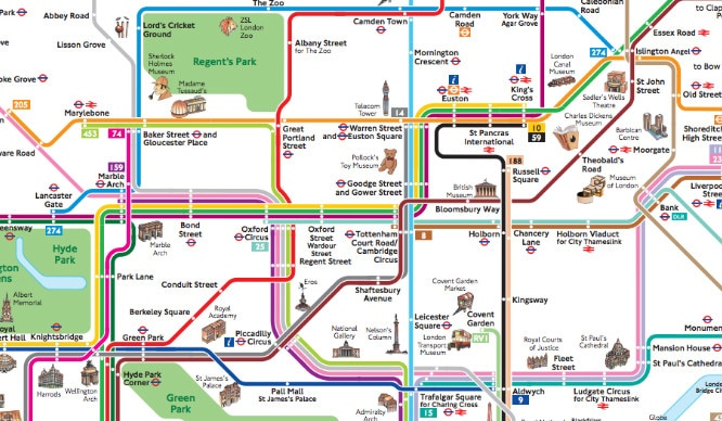 London Bus And Tube Map on