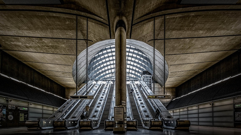 Canary Wharf Underground Escalators
