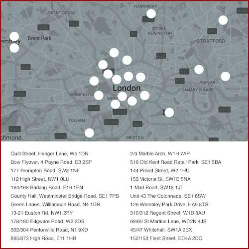 McDonalds Delivery London Map