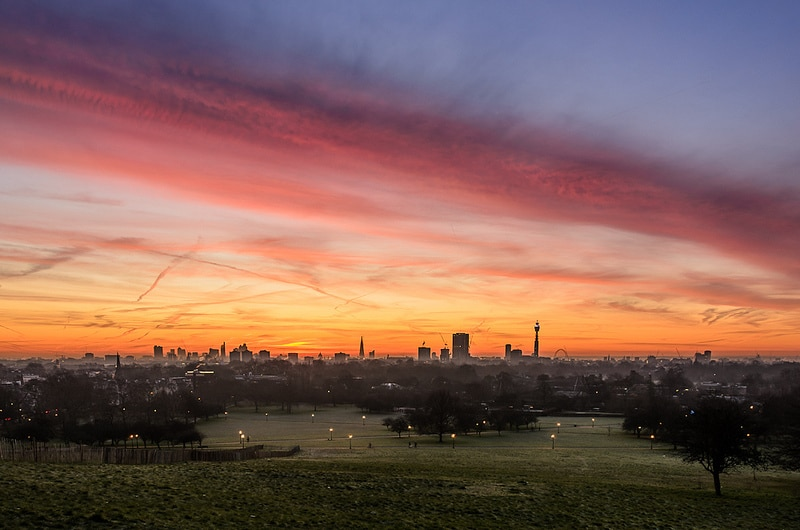 Primrose Hill Sunrise London