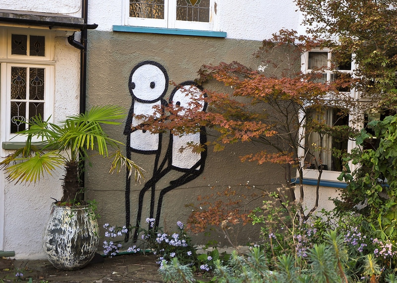 Stik stick men street art in Dulwich
