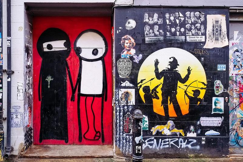 Stik Spitalfields London street art mural