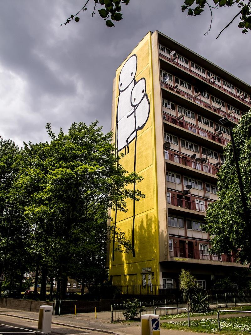 Stik mural tall west London