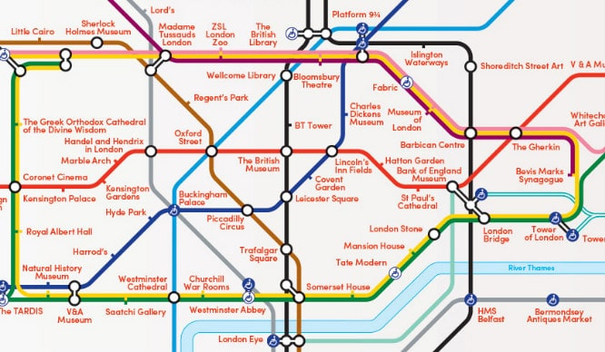 alternative tube map attractions