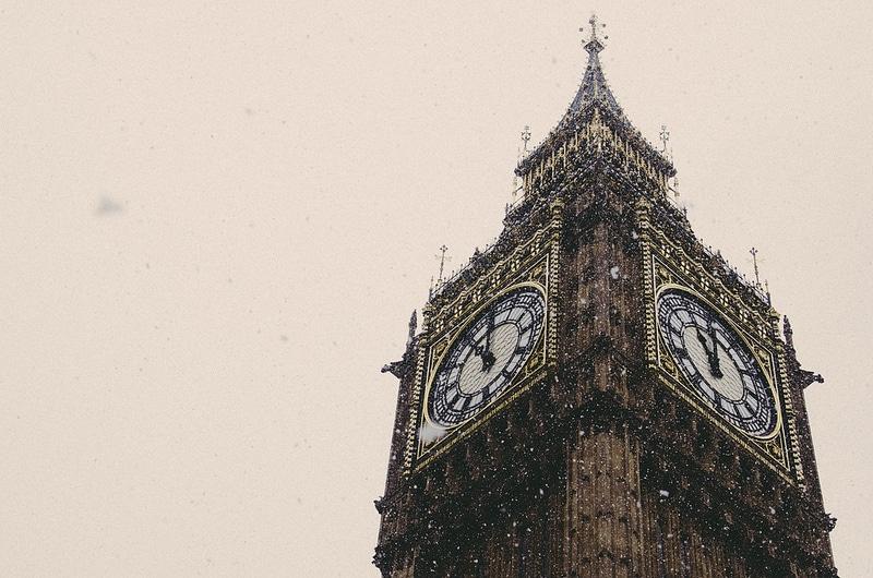 Big Ben Snow London