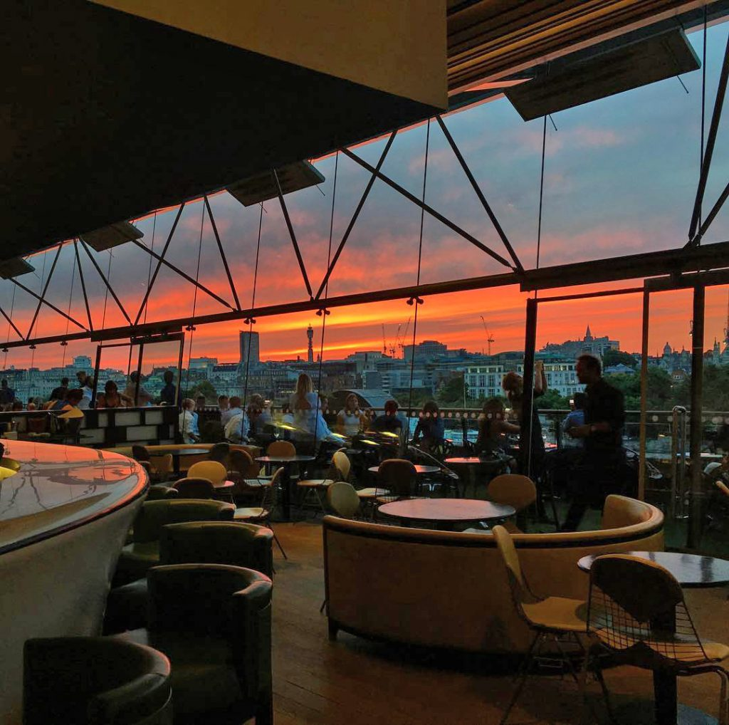 Oxo Tower Restaurant Sunset