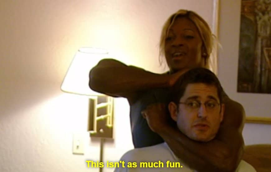 This Isn't As Much Fun Louis Theroux Headlock