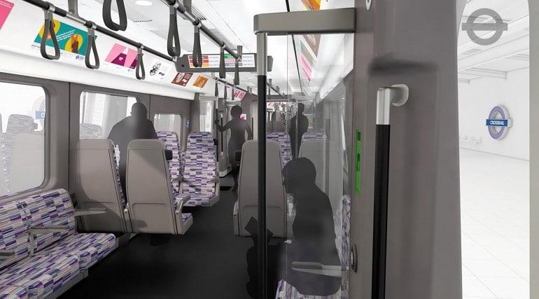 tfl image - crossrail train interior bay seats_214476