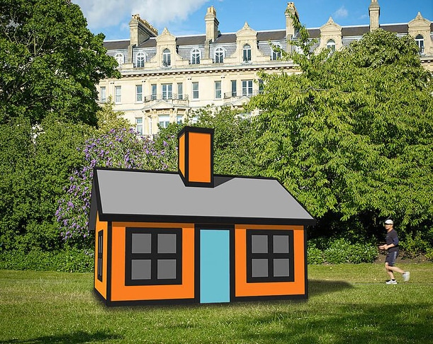 Richard Woods, Holiday Home (Regent's Park) (2018), presented by Alan Cristea Gallery