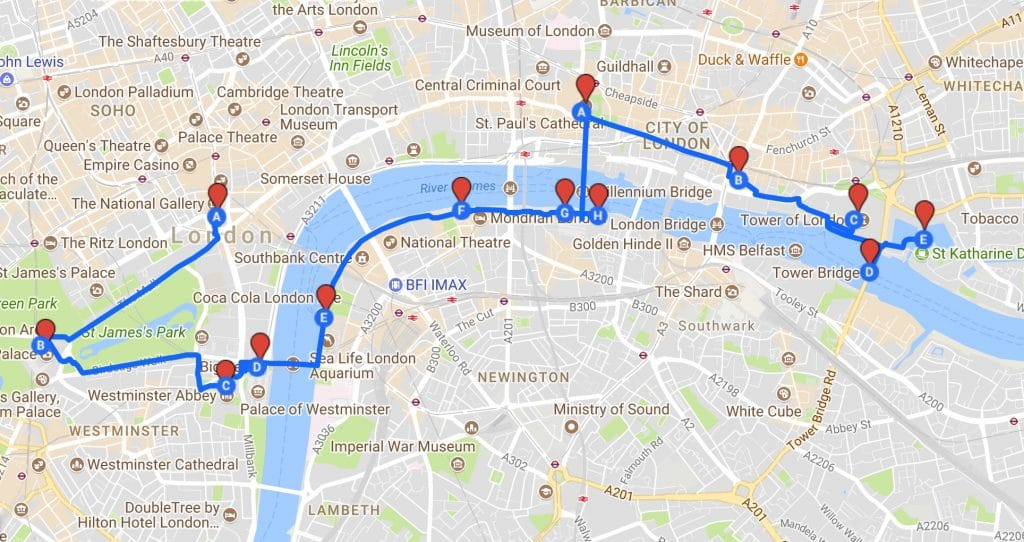London Pass Attractions Map.This Is Possibly The Most Efficient Sightseeing Tour Of London