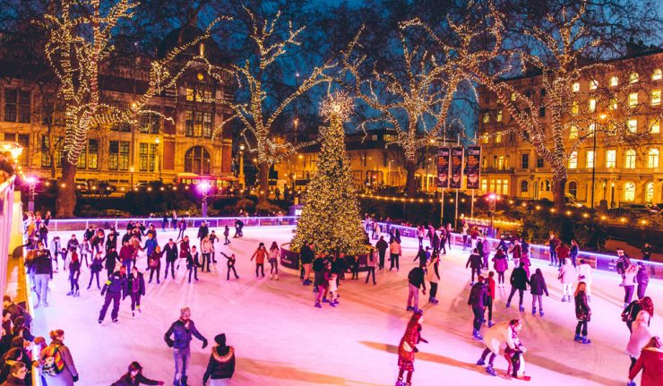 outdoor ice skating london