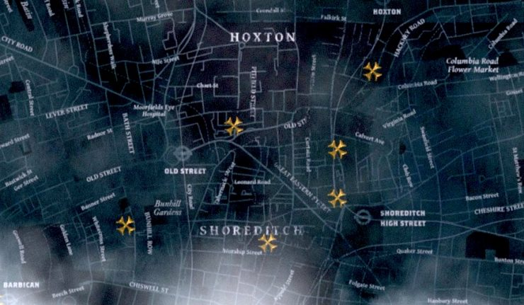 Scary Map London Ghosts
