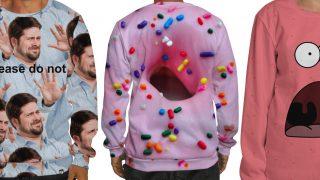 Bold print sweatshirts
