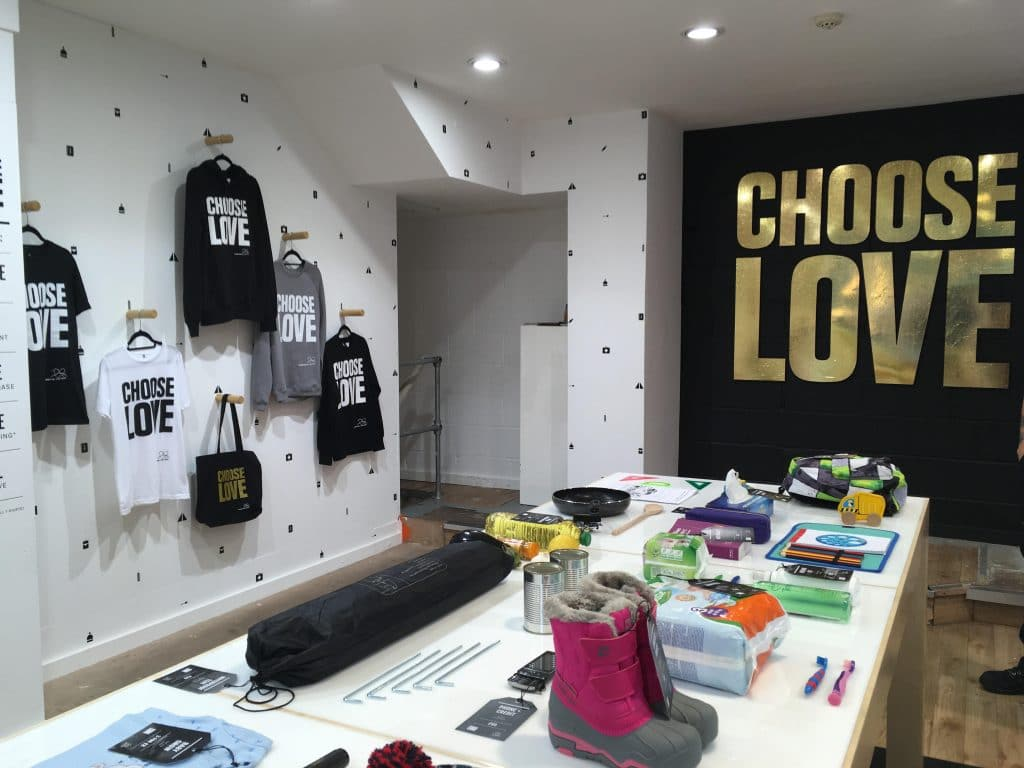 Charity pop-up