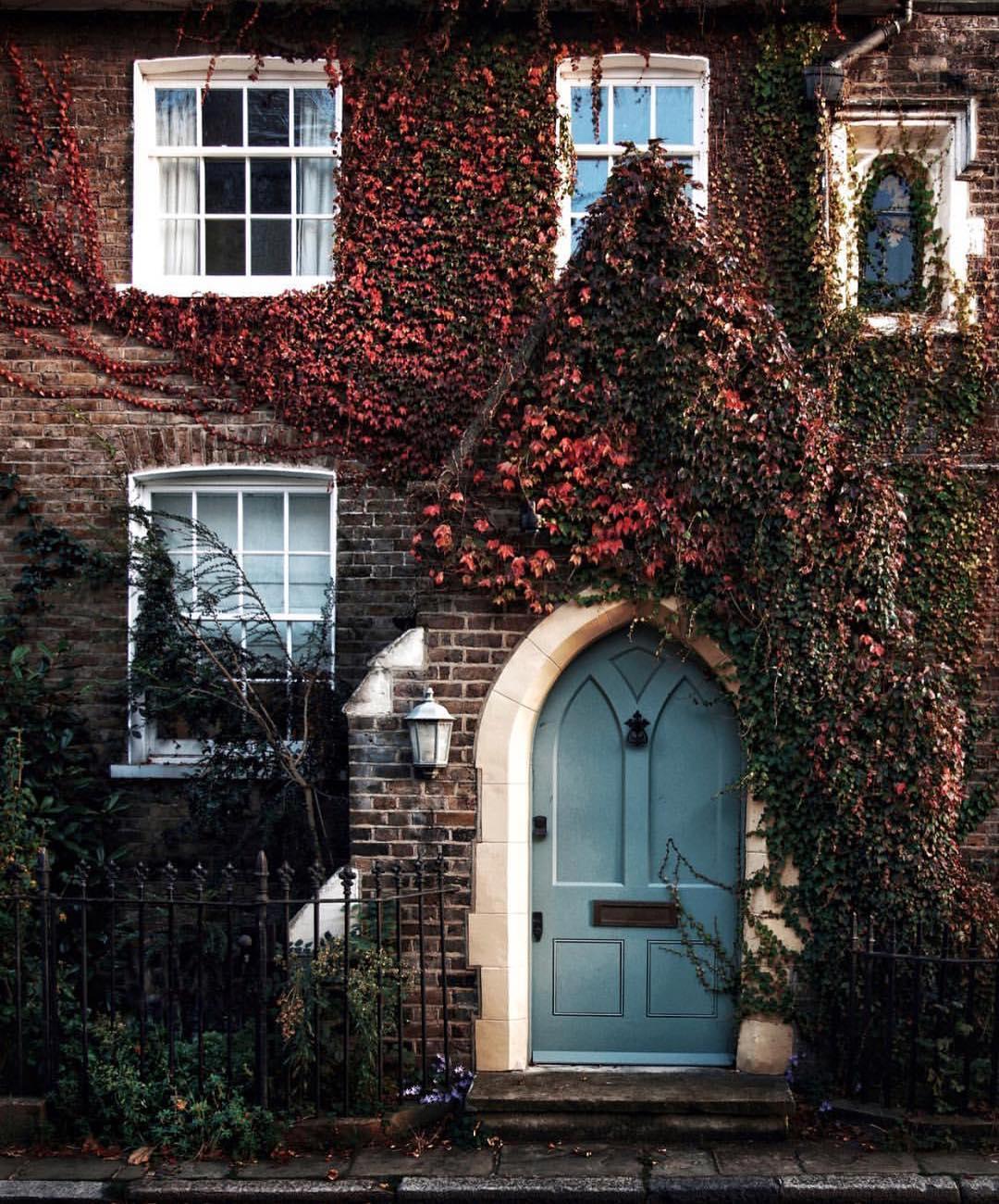 Autumn door in London.