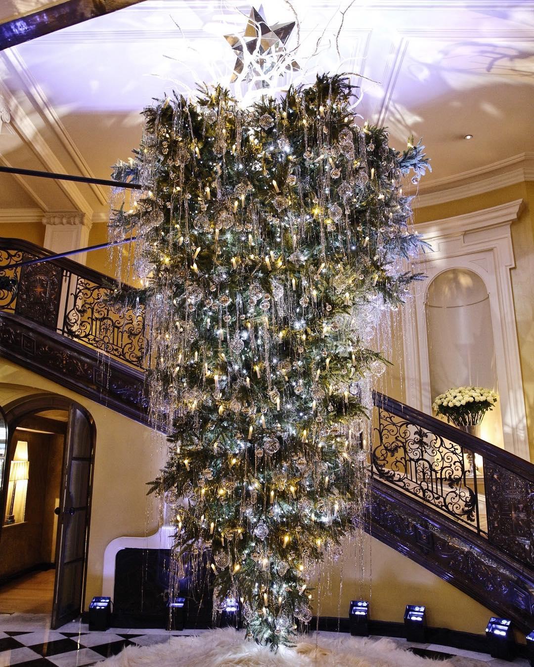 Christmas tree upside down London