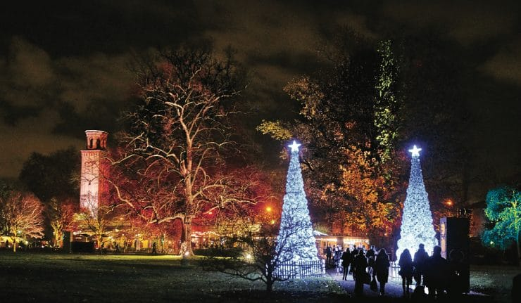 Kew Gardens Christmas light trail