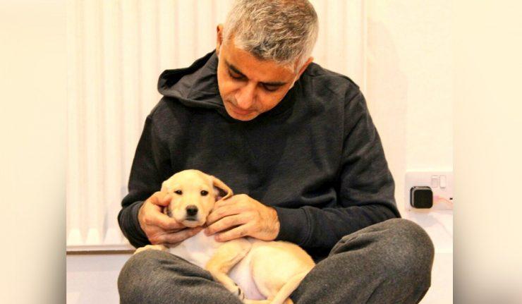 Sadiq Khan Puppy Luna