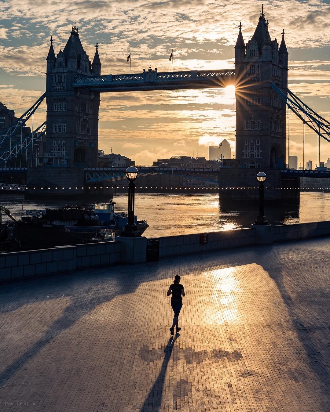 Tower Bridge sunset photo London.