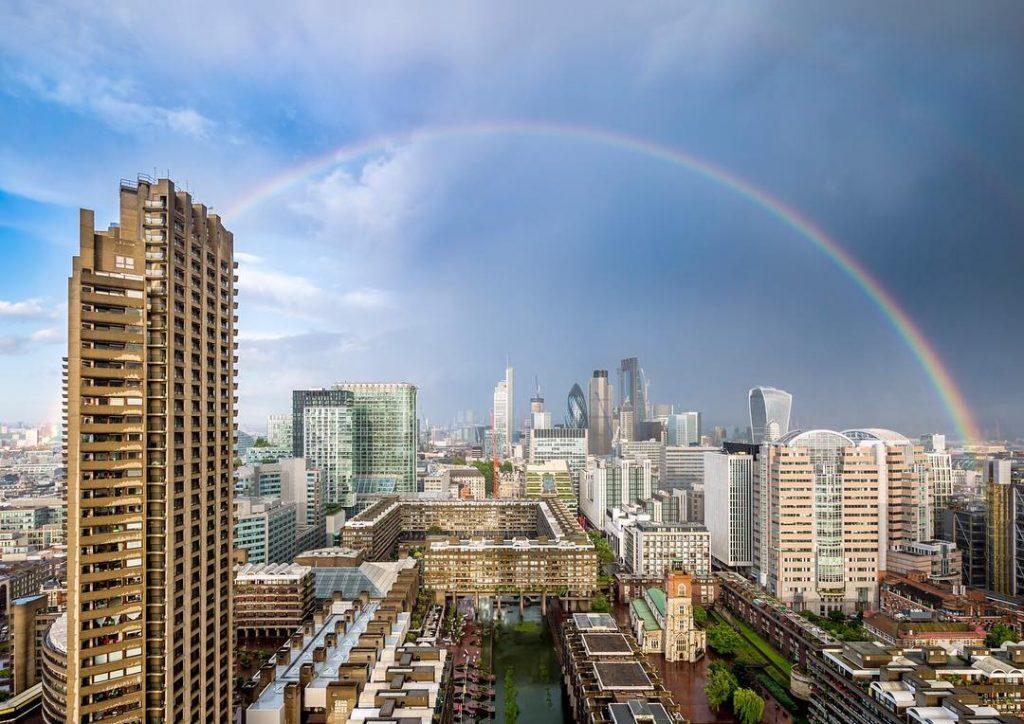 Rainbow over london photograph