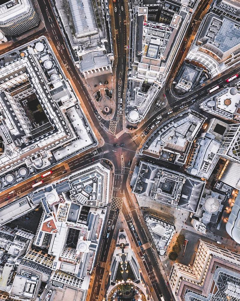 London drone aerial photography