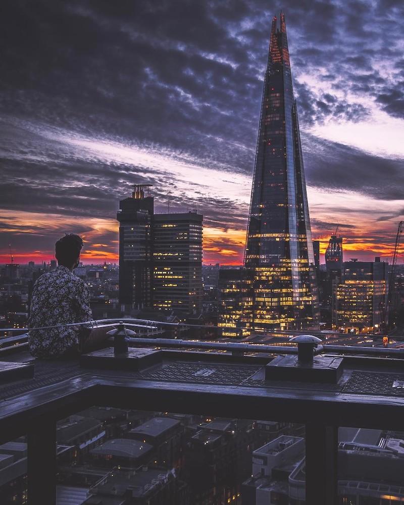 London shard sunset instagram
