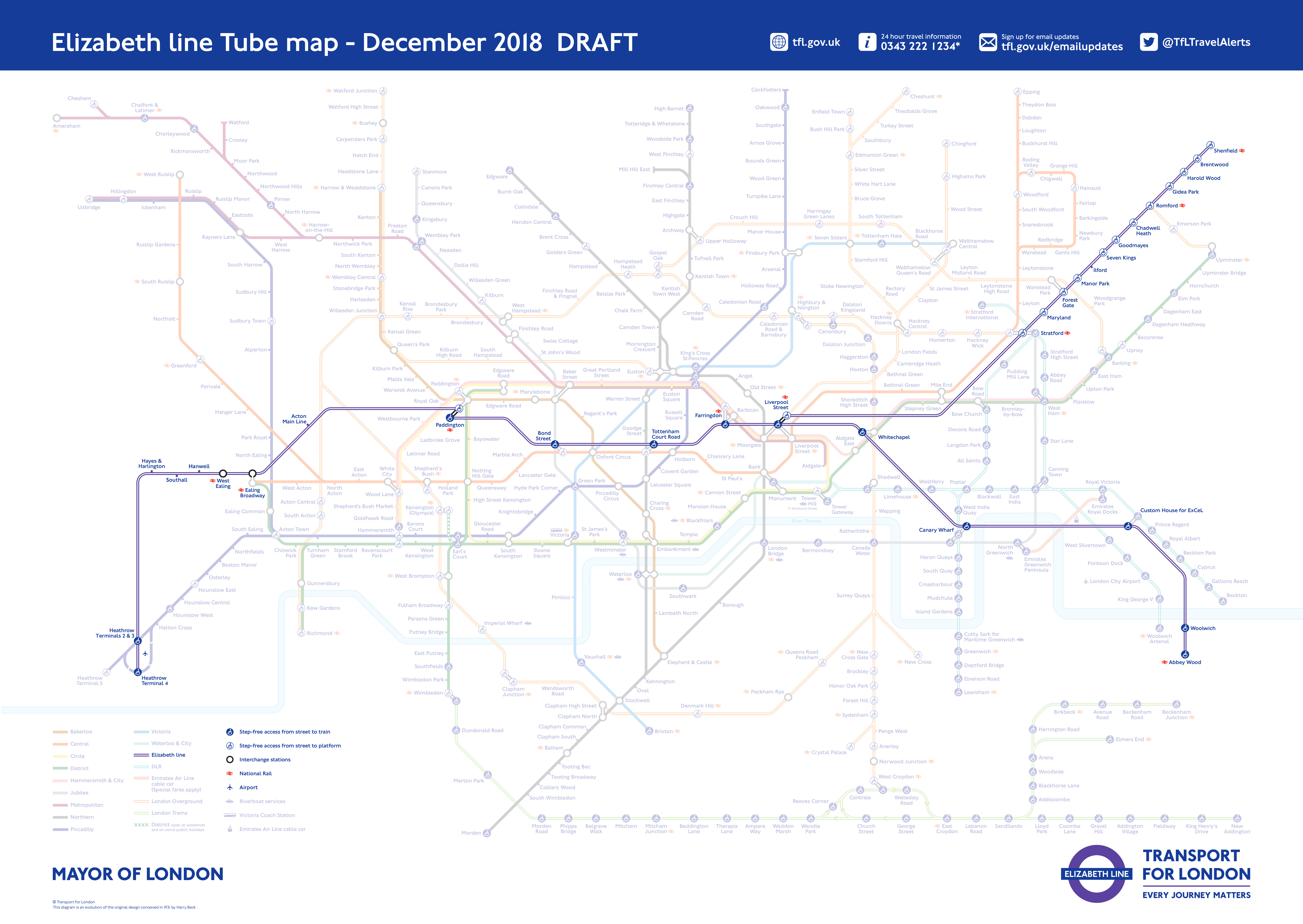 Here\'s What The Tube Map Will Look Like When The Elizabeth Line ...