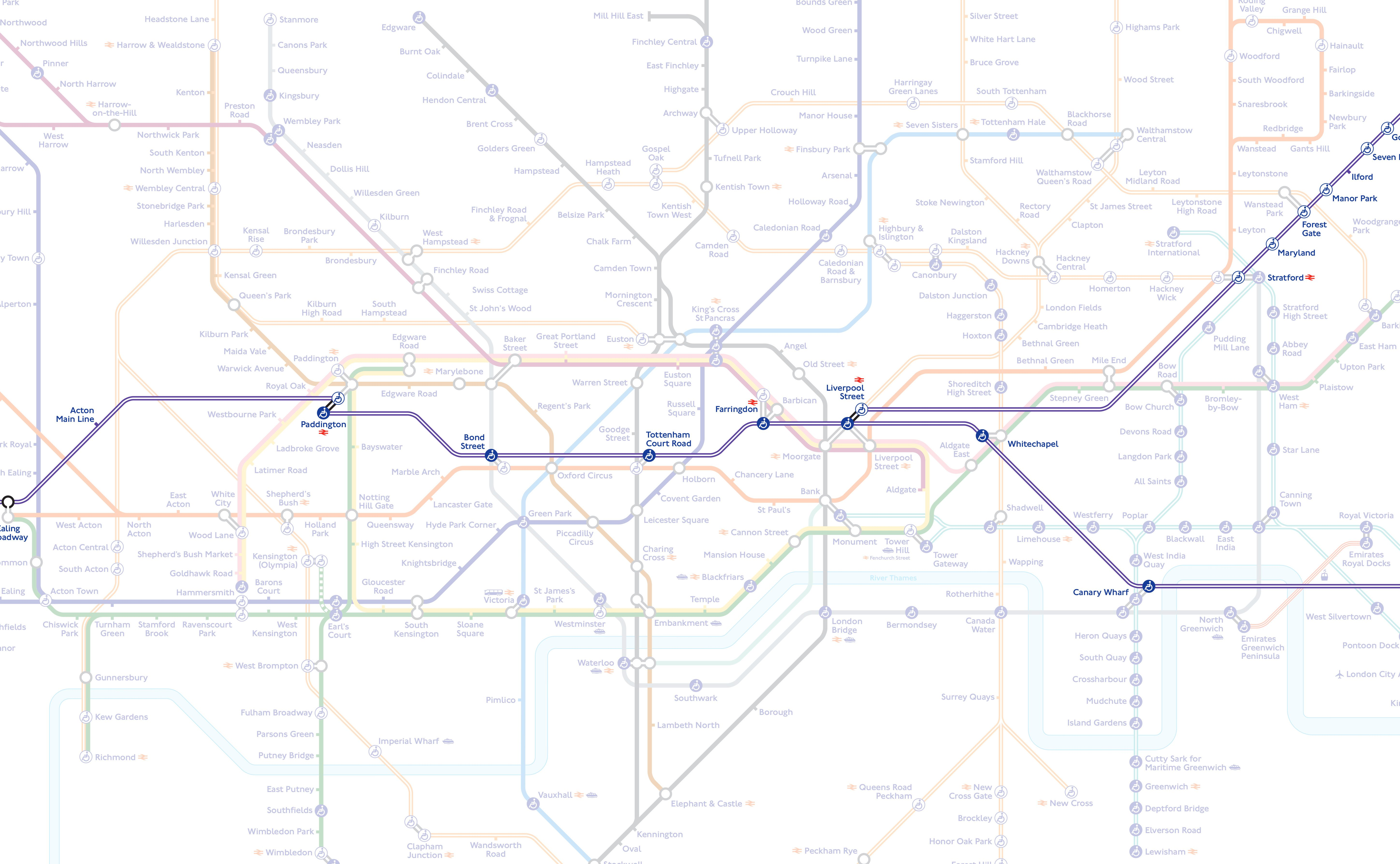London Map Central.Here S What The Tube Map Will Look Like When The Elizabeth Line