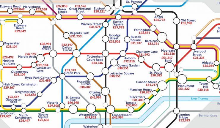 tube map london salaries
