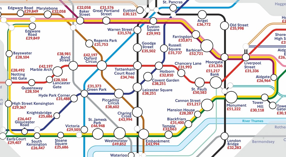 Angel London Map.The Tube Stops With The Best Paid Jobs Have Been Revealed Secret