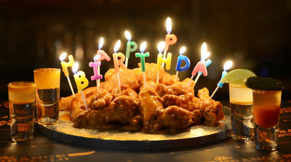 Chicken Wing Birthday Cake