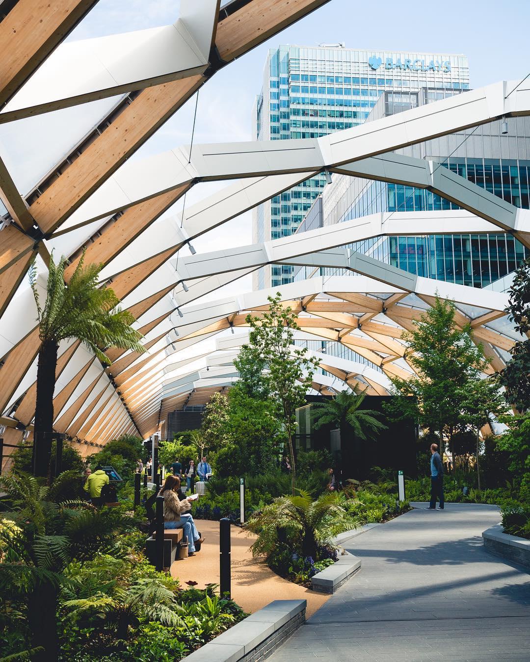 Crossrail Place Roof Garden Canary Wharfs Peaceful Park