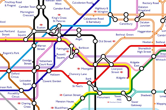 South East London Map.The Tube Map In 2040 Is Going To Be Pretty Intense Secret London