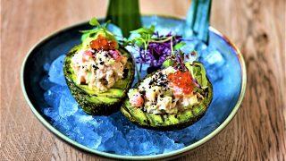 OSH Feature Kamtchatka King Crab avocado mousse & caviar