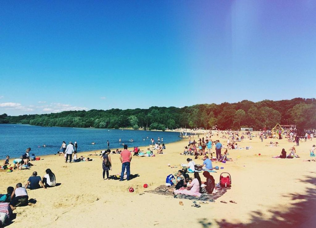 Ruislip Lido Beach West London