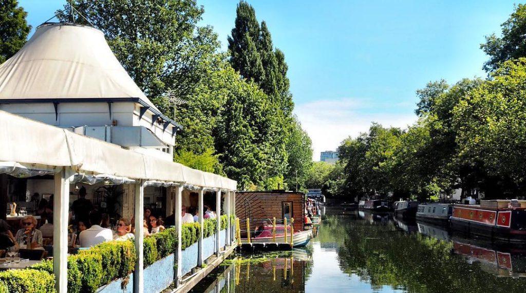 Regents Canal bars restaurants