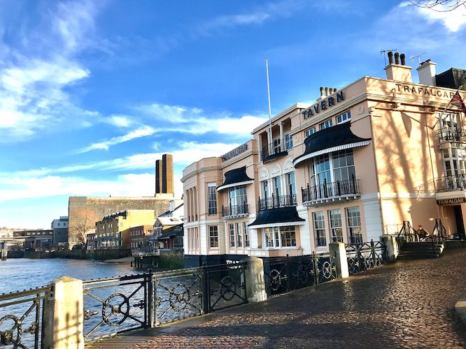 Riverside pubs Trafalgar Tavern