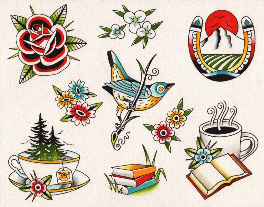 Silje Hagland Portland-inspired tattoo designs