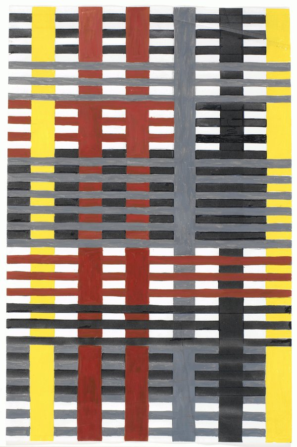 Anni Albers Study for Unexecuted Wallhanging 1926, © 2018 The Josef and Anni Albers Foundation/Artists Rights Society (ARS), New York/DACS, London Photo: Tim Nighswander / Imaging4Art