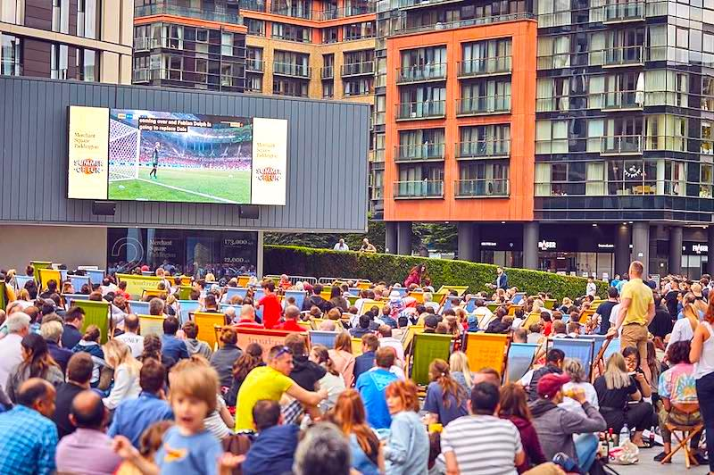 World Cup Screenings in Merchant Square