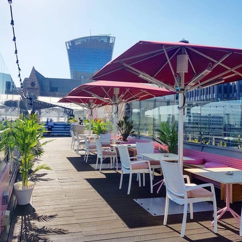 Rooftop Bar London Savage Garden